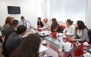 Με μέλη φιλοζωικών οργανώσεων συναντήθηκε χθες ο πρόεδρος της Ν.Δ. Κυρ. Μητσοτάκης.