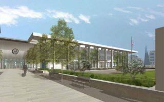 H νέα όψη της πρεσβείας των ΗΠΑ όπως θα είναι μετά την ολοκλήρωση των εργασιών που αναμένεται να διαρκέσουν πέντε έτη