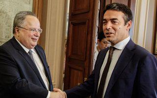 Για δεύτερη φορά μέσα σε μία εβδομάδα, ο υπουργός Εξωτερικών Νίκος Κοτζιάς θα συναντηθεί με τον Σκοπιανό ομόλογό του Νίκολα Ντιμιτρόφ.