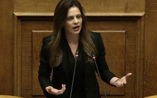 Η υπουργός Εργασίας Έφη Αχτσιόγλου μιλάει στη σημερινή συζήτηση στη Βουλή του πολυνομοσχεδίου «Ρυθμίσεις για την εφαρμογή των διαρθρωτικών μεταρρυθμίσεων του Προγράμματος Οικονομικής Προσαρμογής και άλλες διατάξεις