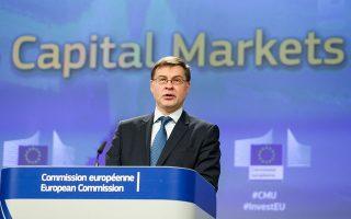 Η Ευρώπη και η οικονομία της ανακτούν τις δυνάμεις τους. Η Ευρώπη πρέπει να εκμεταλλευθεί αυτή την ορμή και να επιταχύνει τη μείωση των μη εξυπηρετούμενων δανείων», δήλωσε χθες ο αντιπρόεδρος της Ευρωπαϊκής Επιτροπής, Βάλντις Ντομπρόβσκις.