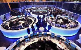 Στο Λονδίνο ο FTSE 100 είχε κέρδη 0,1%, στη Φρανκφούρτη (φωτ.) ο DAX έκλεισε με άνοδο 0,88% και με 0,65% ο CAC 40 στο Παρίσι.