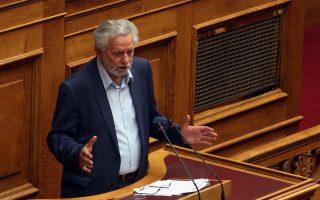 Ο βουλευτής του ΣΥΡΙΖΑ Θοδωρής Δρίτσας μιλά στην Ολομέλεια της Βουλής στη συζήτηση επίκαιρων ερωτήσεων προς την Κυβέρνηση, Παρασκευή 22 Σεπτεμβρίου 2017. ΑΠΕ-ΜΠΕ/ΑΠΕ-ΜΠΕ/Αλέξανδρος Μπελτές