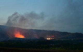 Φωτογραφία από την πυρκαγιά που ξέσπασε στο Άργος στις 16 Μαρτίου
