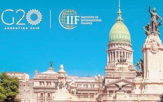 Οι υπουργοί Οικονομικών και οι κεντρικοί τραπεζίτες του G20 ζητούν εμβάθυνση του διαλόγου για το διεθνές εμπόριο, στο κοινό ανακοινωθέν που εξέδωσαν χθες μετά την ολοκλήρωση της συνάντησής τους στο Μπουένος Αϊρες.