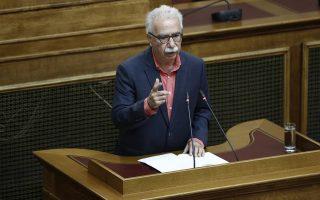 Ο υπουργός Παιδείας, Έρευνας και Θρησκευμάτων  Κωνσταντίνος Γαβρόγλου μιλάει κατά τη διάρκεια της ολομέλειας για το νομοσχέδιο της Παιδείας, στην αίθουσα της Γερουσίας στην Βουλή, Αθήνα, Τρίτη 9 Ιανουαρίου 2018.  ΑΠΕ-ΜΠΕ/ΑΠΕ-ΜΠΕ/ΓΙΑΝΝΗΣ ΚΟΛΕΣΙΔΗΣ