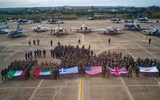 Ξεκίνησε χθες και θα διαρκέσει έως τις 23 Μαρτίου η αεροπορική άσκηση «Ηνίοχος '18» με τη συμμετοχή ιπταμένων και μηχανικών από έξι χώρες. Με φόντο μαχητικά διαφόρων τύπων, αεροπόροι από την Ιταλία, τα Ηνωμένα Αραβικά Εμιράτα, τις ΗΠΑ, τη Βρετανία και την Κύπρο άρχισαν χθες, με ομαδική φωτογραφία, μια άσκηση η οποία θα συμπεριλάβει το σύνολο του FIR Αθηνών. Τη δεύτερη εβδομάδα έχει προγραμματιστεί η ένταξη με αεροσκάφη και πληρώματα και του Ισραήλ, ενώ η Αίγυπτος θα συμμετάσχει με στάτους παρατηρητή