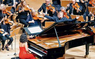 Η Κάτια Μπουνιατισβίλι ερμήνευσε το 2ο Κοντσέρτο για πιάνο του Ραχμάνινοφ (φωτογραφία: Χ. Ακριβιάδης).