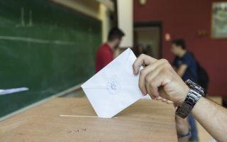 Φοιτητής ψηφίζει κατά τη διάρκεια των φοιτητικών εκλογών στο ΑΠΘ., Θεσσαλονίκη, Τετάρτη 24 Μαΐου 2017.  Στις κάλπες προσέρχονται σήμερα οι φοιτητές της χώρας για τις φοιτητικές εκλογές, με φόντο την αναμονή για την κατάθεση του νομοσχεδίου για την τριτοβάθμια. Οι κάλπες άνοιξαν, νωρίτερα το πρωί, χωρίς μέχρι στιγμής να έχει υπάρξει κάποιο πρόβλημα και θα κλείσουν αργά το απόγευμα ενώ τα πρώτα αποτελέσματα αναμένονται αργά το βράδυ. ΑΠΕ ΜΠΕ/PIXEL/ΣΩΤΗΡΗΣ ΜΠΑΡΜΠΑΡΟΥΣΗΣ