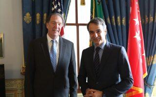 Ο Κυριάκος Μητσοτάκης με τον αναπληρωτή υπουργό Οικονομικών των ΗΠΑ, Ντέιβιντ Μάλπας