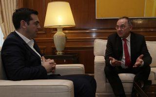 Συνάντηση του πρωθυπουργού, Αλέξη Τσίπρα με τον Νόρμπερτ Βάλτερ Μπόργιανς στο Μέγαρο στις 16 Ιανουαρίου 2016