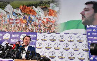 Ούτε οι λαϊκιστές των Πέντε Αστέρων ούτε η ακροδεξιά του Ματέο Σαλβίνι (φωτ.) μένουν εκτός των διαπραγματεύσεων.