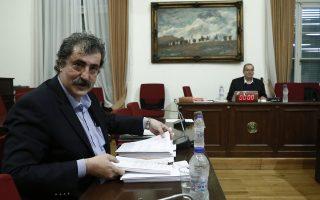 Ο αναπληρωτής υπουργός Υγείας Παύλος Πολάκης (Α) παρευρίσκεται στη εξεταστική επιτροπή που διερευνά τα σκάνδαλα στον χώρο της υγείας την περίοδο 1997- 2014, στη Βουλή Αθήνα Τετάρτη 21 Μαρτίου 2018.  ΑΠΕ-ΜΠΕ/ΑΠΕ-ΜΠΕ/ΓΙΑΝΝΗΣ ΚΟΛΕΣΙΔΗΣ