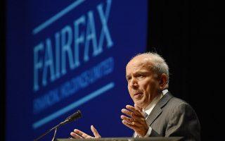 Ο ιδρυτής και επικεφαλής της καναδικής Fairfax Financial Holdings Πρεμ Γουάτσα.