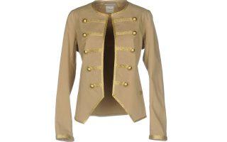 Μπεζ military σακάκι με χρυσά κουμπιά €132,00