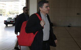 Ο υπουργός Οικονομικών Ευκλείδης Τσακαλώτος προσέρχεται για την συνάντησή του με τους εκπροσώπους των θεσμών, Αθήνα, 28 Φεβρουαρίου 2018. ΑΠΕ-ΜΠΕ/ΑΠΕ-ΜΠΕ/ΓΙΑΝΝΗΣ ΚΟΛΕΣΙΔΗΣ