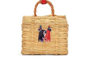 Πλεκτή box τσάντα από καλάμια €295,00