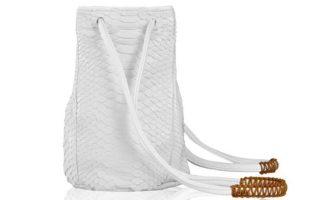 Λευκή τσάντα με snake-skin υφή €285,00