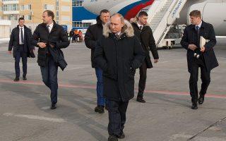 Ο Πούτιν, σε πρόσφατο ταξίδι του στο Eκατερίνμπουργκ.