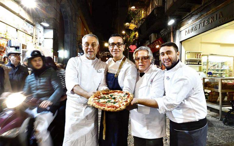 Το 2017 η τέχνη του pizzaiolo εντάχθηκε στον κατάλογο άϋλης πολιτιστικής κληρονομιάς της UNESCO. (Φωτογραφία: © AFP/VISUALHELLAS.GR)