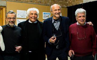 Από αριστερά, Ηλίας Μακρής, Γιάννης Ναζλίδης, Ανδρέας Πετρουλάκης και Δημήτρης Χαντζόπουλος.