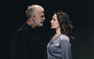Περικλής Μουστάκης και Μαρία Ναυπλιώτου, πρωταγωνιστές της παράστασης του έργου του Μπέργκμαν, υπό τις σκηνοθετικές οδηγίες του Περικλή Μουστάκη, στο Θέατρο της Οδού Κυκλάδων-Λευτέρης Βογιατζής.