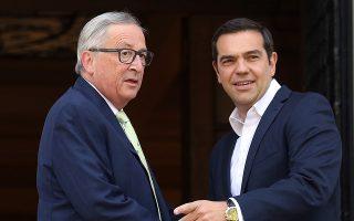 Κατά τη συνάντησή του με τον κ. Γιούνκερ, ο κ. Τσίπρας τόνισε ότι «η Ελλάδα μετά 8 χρόνια θα ξαναγίνει μια κανονική χώρα της Ευρωζώνης».