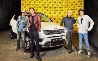Η καλοκαιρινή τουρνέ των Rolling Stones έχει τη σφραγίδα της Jeep.