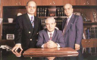 (Από αριστερά στα δεξιά) Θανάσης Γιαννακόπουλος, Παύλος Γιαννακόπουλος και Κώστας Γιαννακόπουλος.