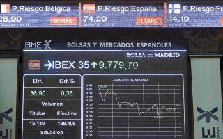 Ο δείκτης XETRA DAX της Φρανκφούρτης έκλεισε με κέρδη 0,98% και ο FTSE MIB του Μιλάνου με κέρδη 1,27%, ενώ ο ΙΒΕΧ 35 της Μαδρίτης (φωτ.) και ο CAC 40 του Παρισιού με άνοδο 0,12% και 0,59% αντιστοίχως.