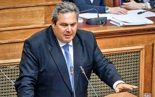 «Δεν είναι διμερές θέμα η κράτηση στελεχών των Ενόπλων Δυνάμεων της Ελλάδος, της Ευρώπης και του ΝΑΤΟ. Είναι θέμα διεθνές, είναι θέμα δικαίου, είναι θέμα ανθρωπίνων δικαιωμάτων», τόνισε ο Π. Καμμένος.