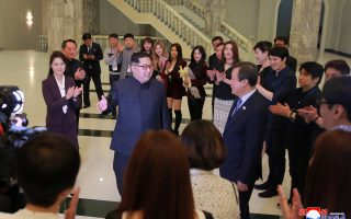 North Korean leader Kim Jong Un and his wife Ri Sol Ju enjoyed a performance from South Korean K-pop singers in a concert under the title