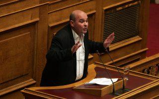 O βουλευτής του ΣΥΡΙΖΑ Γιάννης Μιχελογιαννάκης μιλά  κατά τη διάρκεια της συζήτησης στην Ολομελεια της Βουλής,  των προγραμματικώνν δηλωσεων της Κυβέρνησης, Δευτέρα 9 Φεβρουαρίου 2015. ΑΠΕ - ΜΠΕ/ΑΠΕ - ΜΠΕ/Αλέξανδρος Μπελτές