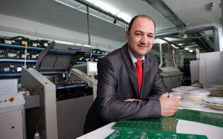 Ο πρόεδρος και διευθύνων σύμβουλος της Olympia Electronics, Δημ. Λακασάς.