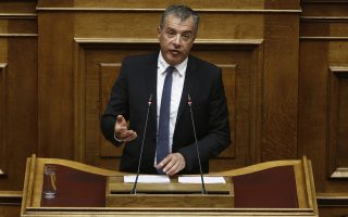 Ο επικεφαλής του Ποταμιού Σταύρος Θεοδωράκης μιλάει στη σημερινή συζήτηση στην Ολομέλεια της Βουλής της πρότασης της Νέας Δημοκρατίας για προανακριτική σε βάρος των νυν και πρώην υπουργών Υγείας Παναγιώτη Κουρουμπλή, Ανδρέα Ξανθού και Παύλου Πολάκη,  προκειμένου να διερευνηθούν τυχόν ευθύνες για το αδίκημα της απιστίας, Πέμπτη 8 Μαρτίου 2018.  ΑΠΕ-ΜΠΕ/ΑΠΕ-ΜΠΕ/ΑΛΕΞΑΝΔΡΟΣ ΒΛΑΧΟΣ