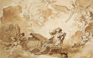 Σχέδιο που απεικονίζει τον καλλιτέχνη Ζαν-Ονόρ Φραγκονάρ.