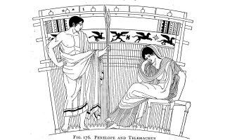 Τηλέμαχος και Πηνελόπη. Η Μπίαρντ υποστηρίζει ότι το πρώτο γραπτό μνημείο ή η εκκίνηση αποκλεισμού των γυναικών από τη δημόσια σφαίρα βρίσκεται στην πρώτη ραψωδία της «Οδύσσειας» του Ομήρου.
