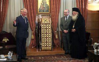 Η επίσκεψη στον Αρχιεπίσκοπο Ιερώνυμο έγινε σε ιδιαίτερα θερμό κλίμα.