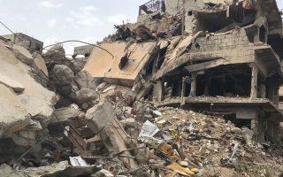Ακόμη και με τα μέτρα της Μέσης Ανατολής, η ολοκληρωτική καταστροφή στο Γιαρμούκ ξεπερνά τα όρια της φαντασίας.