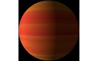 (ψηφιακή απεικόνιση του εξωπλανήτη WASP-96b, πηγή:.exoplanetkyoto.org)