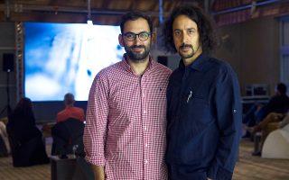 Από αριστερά, ο σκηνοθέτης και παραγωγός Θάνος Αγγέλης και ο αρχιτέκτων Μανώλης Οικονόμου.