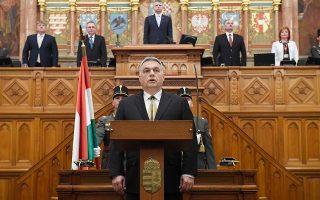 Ο Ούγγρος πρωθυπουργός Βίκτορ Ορμπαν ορκίζεται για την τρίτη κατά σειρά πρωθυπουργική θητεία του.