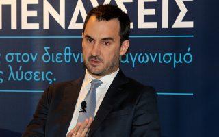 Ο αναπληρωτής υπουργός Οικονομίας και Ανάπτυξης κ. Αλέξης Χαρίτσης.