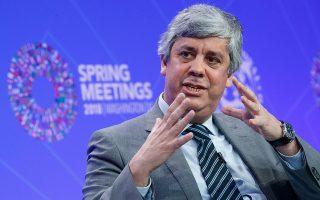 «Ο στόχος του Eurogroup είναι η Ελλάδα να έχει μια αξιόπιστη, βιώσιμη και επιτυχημένη στρατηγική εξόδου. Αν το ΔΝΤ μπορεί να προσφέρει κάτι στα παραπάνω, είναι καλοδεχούμενο», λέει ο Μάριο Σεντένο.