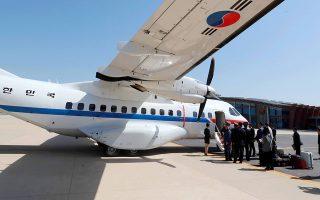 Νοτιοκορεατική πτήση με δημοσιογράφους φτάνει στη Βόρεια Κορέα.
