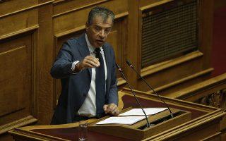 Ο επικεφαλής του Ποταμιού Σταύρος Θεοδωράκης μιλάει από το βήμα της Ολομέλειας της Βουλής στη συζήτηση σε επίπεδο αρχηγών κομμάτων, σχετικά με το περιεχόμενο της διαπραγμάτευσης μεταξύ κυβέρνησης και δανειστών για το κλείσιμο της τέταρτης αξιολόγησης, την οποία έχει ζητήσει η επικεφαλής της ΔΗΣΥ, Φώφη Γεννηματά, Τετάρτη 23 Μαΐου 2018.   ΑΠΕ-ΜΠΕ/ΑΠΕ-ΜΠΕ/ΑΛΕΞΑΝΔΡΟΣ ΒΛΑΧΟΣ