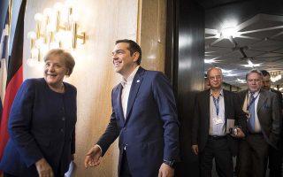 Στιγμιότυπο από την συνάντηση που είχε σήμερα το πρωι ο πρωθυπουργός Αλέξης Τσίπρας με την Γερμανίδα Καγκελάριο ¶γκελα Μέρκελ στο περιθώριο της συνόδου ΕΕ-Δυτικών Βαλκανίων στην Σόφια, Πέμπτη 17 Μαϊου 2018 (EUROKINISSI/ΓΡ.ΤΥΠΟΥ ΠΡΩΘΥΠΟΥΡΓΟΥ/ ANDREA BONETTI )