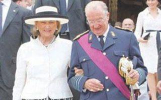 Στιγμιότυπο από την επίσκεψη των βασιλέων του Βελγίου, το 2001.