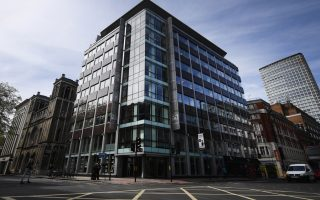 epa06708617 Cambridge Analytica's  offices in London, Britain, 03 May 2018. Cambridge Analytica has announced the data company is to shut down following the Facebook privacy scandal.  EPA/ANDY RAIN