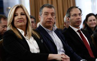 Πηγές από το Ποτάμι αντιμετώπισαν με επιφύλαξη το αίτημα για εκλογές. Στη φωτογραφία, Φώφη Γεννηματά και Σταύρος Θεοδωράκης.